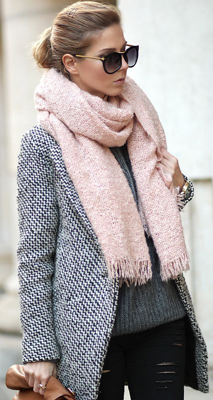 Blush and grey.