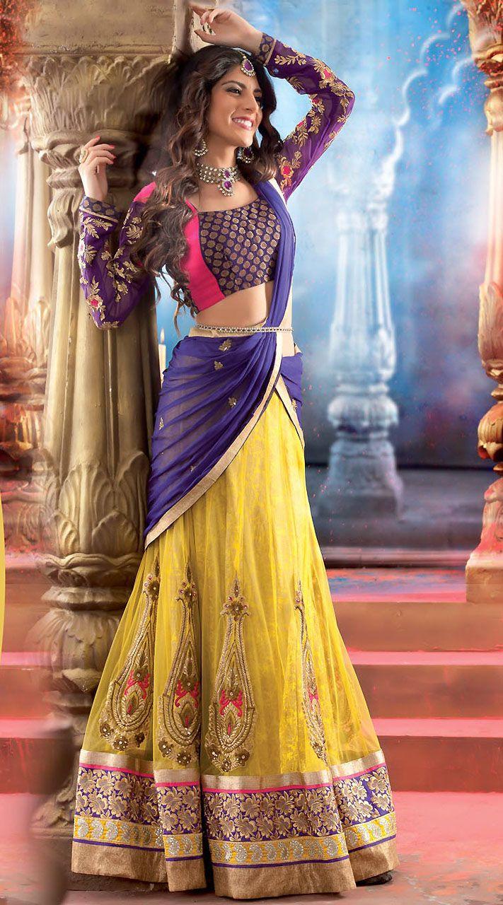 Dupatta style in lehnga dress