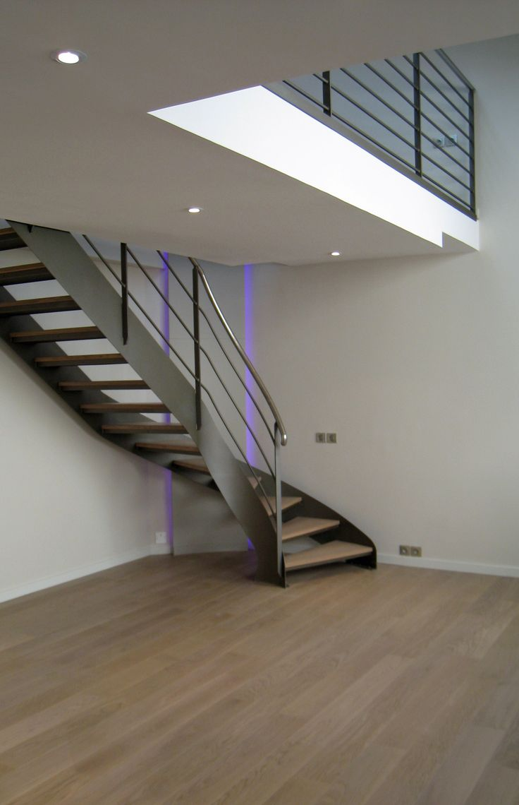 Cr ation d 39 un escalier m tal bois philippe ponceblanc for Creation interieur