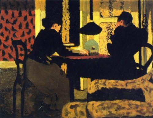 Edouard Vuillard, Deux femmes sous la lampe, 1892