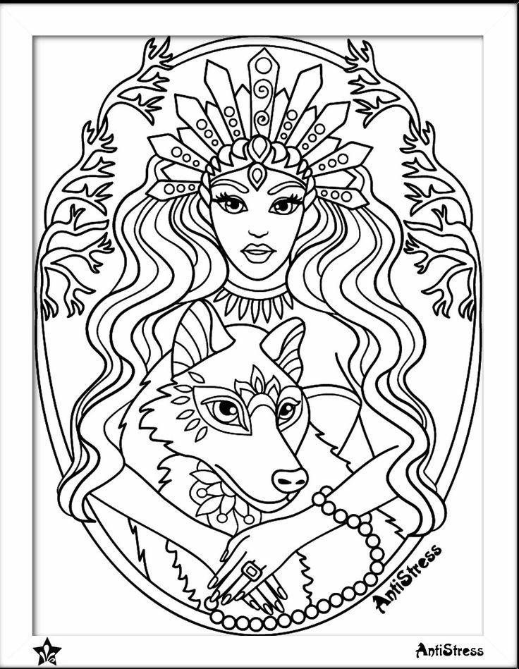 889 best Beautiful Women Coloring Pages for Adults images on ...