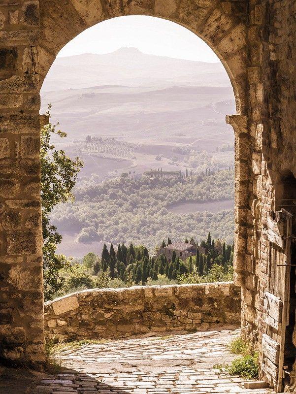 Tuinposter 'Toscaanse doorkijk'