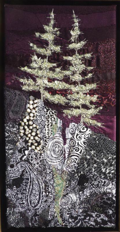 """Silver Fir"" by textile artist Lorraine Roy. So wintery."