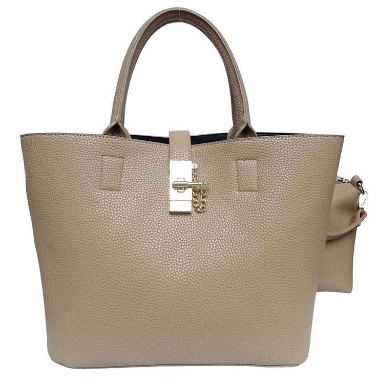 Top Handle Satchel. Because every gal needs a beige bag. Vegan leather.