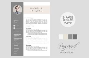Resume Template + Cover Letter WORD by PAPPERMINT on Creative Market