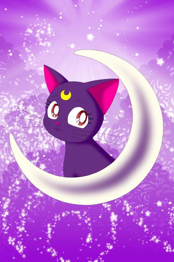 Картинки кошка с луной на лбу