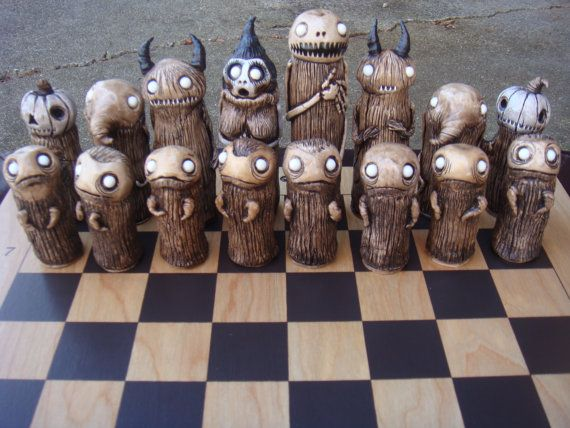 Spooky Chess Set by joewhiteford on Etsy