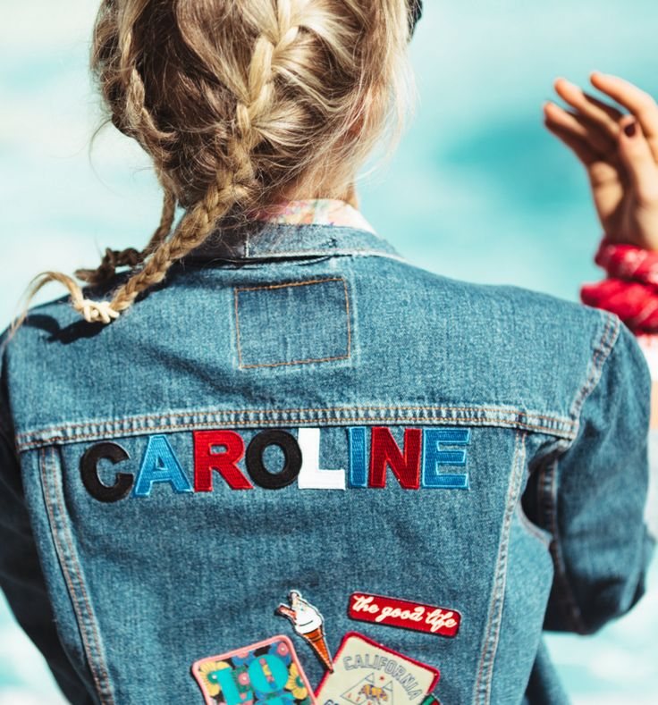 The good life. Make your jean jacket your own by applying custom patch letters to spell your name, as Caroline did at the Big Festival in Biarritz. Photo: Fabian Wester.