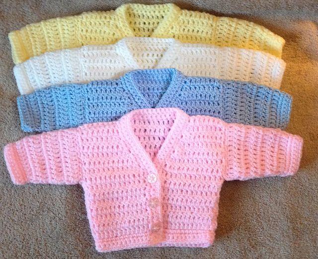 Craft Passions: r&r v neck preemie cardigan..# free # crochet patt...