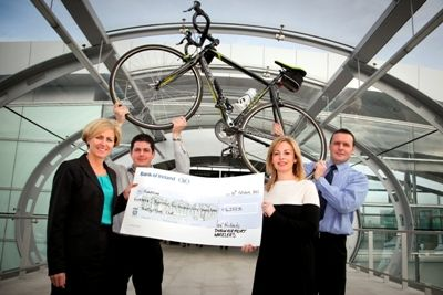 DAA cyclists present €14,000 cheque to Barretstown.   http://www.dublinairport.com/gns/at-the-airport/latest-news/12-10-31/DAA_Cyclists_Present_%E2%82%AC14_000_Cheque_To_Barretstown.aspx