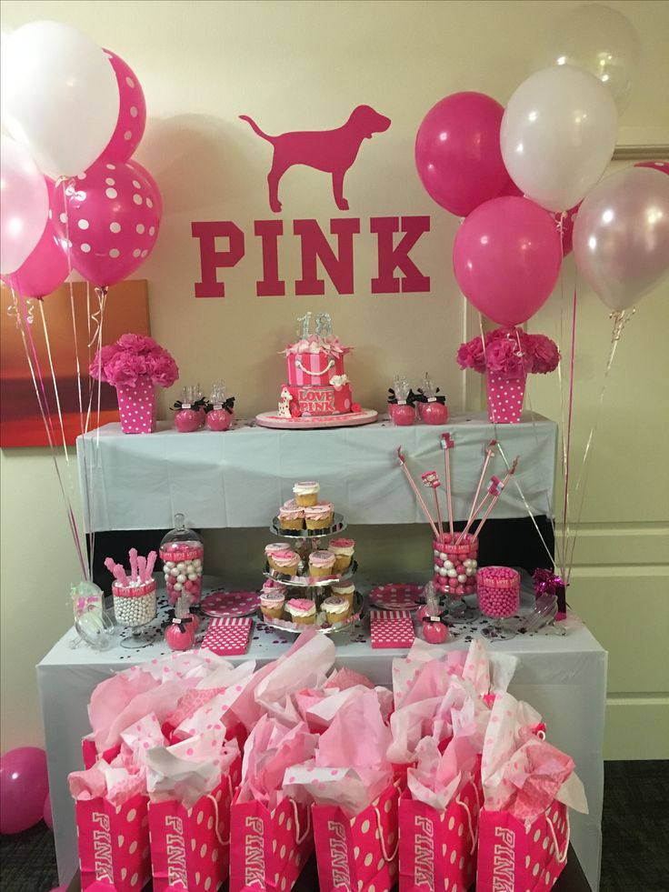 7 best victoria secret pink party images on pinterest for 17th birthday decoration ideas