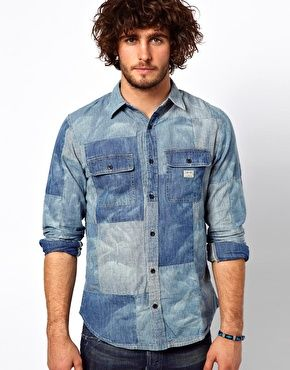 Enlarge Denim & Supply Ralph Lauren Patchwork Shirt