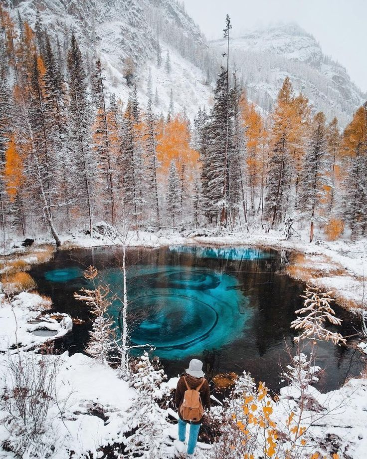 Geyser lake, Altai, Russia - Imgur