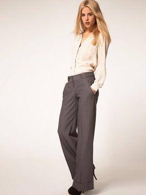 Классические женские брюки весна 2015 года: фото летних моделей белого и черного, синего цвета
