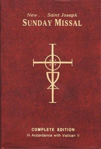 The New Saint Joseph Sunday Missal, Complete Edition (Red Vinyl) by Catholic Book Publishing Corp: Catholic Book Publishing Corp 9780899428208 Vinyl Bound - Pro Quo Books