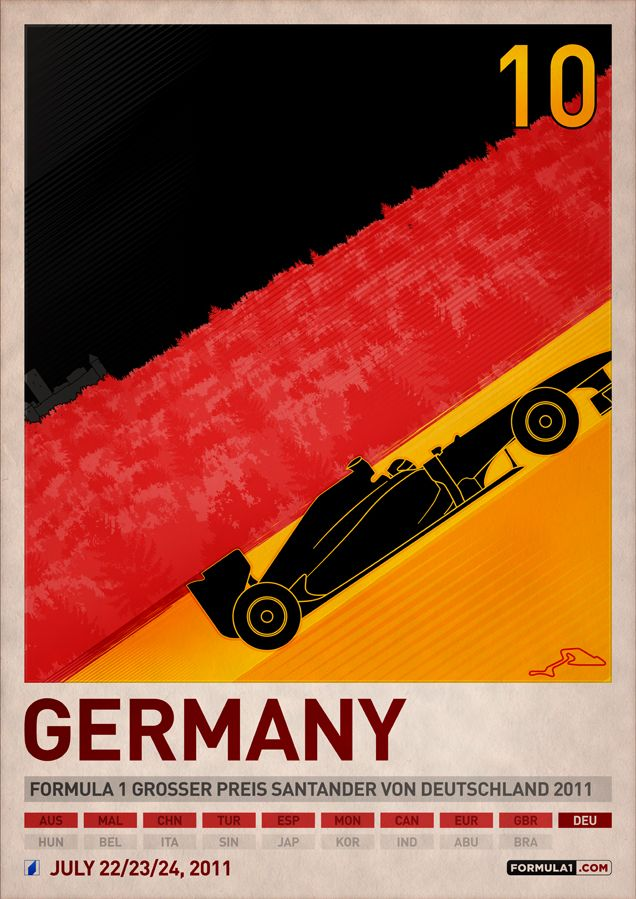 2011 F1 Germany Poster