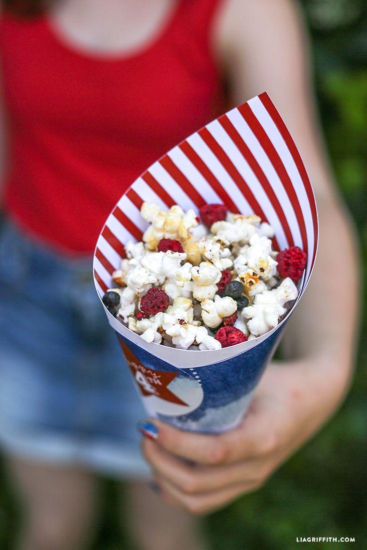 #redwhiteandblue #4thofJuly #recipes #snacks #kettlecorn #popcorn #printable #driedfruit
