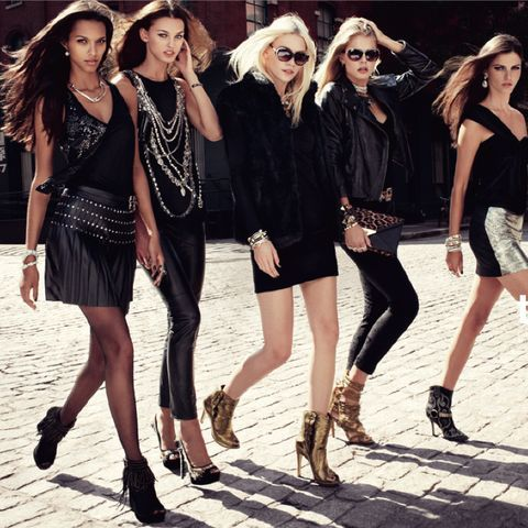These Nine West models are super Rocker chic!