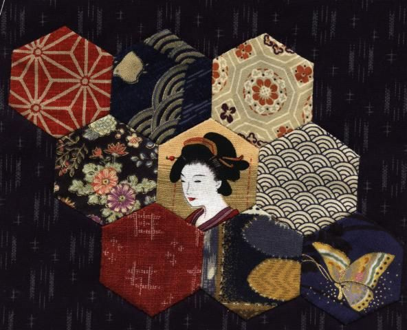 Julia's Place: Japanese Quilt....Two more blocks...one to go!