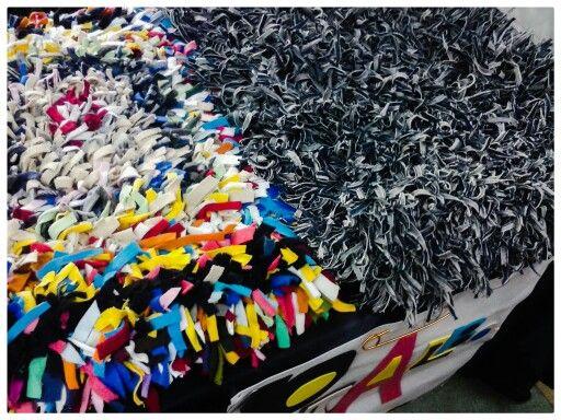 Mini alfombras de retazos.