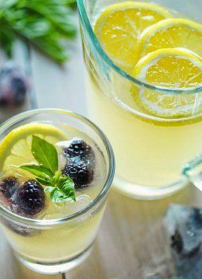 Ginger, mint & lemon water.