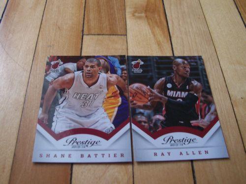 Shane Battier Ray Allen 2013 14 Panini Prestige NBA Miami Heat 2 Card Lot Mint | eBay