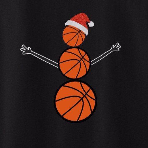 Bonhomme de neige BasetBall chemise - Basketball cadeau de bonhomme de neige - coéquipier mignon cadeau chapeau de père Noël bonhomme de neige. Cadeau de maman de basket-ball