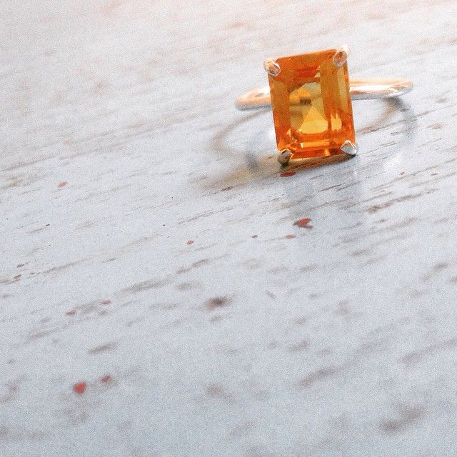 Citrine Simple Silver Ring #ring #girl #girlstuff #fashion #jewellery #cincin #cincinsimple #silver #affordable #brand #jakarta #bali www.chicjewelleryhouse.com