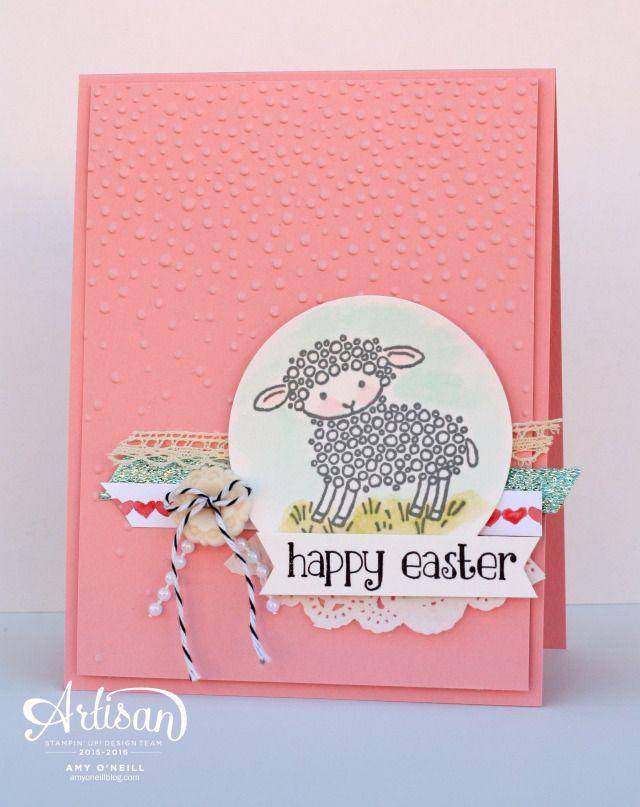 Easter Card Sheep Final - SU - Easter Lamb - Amy O'Neill