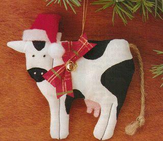 Doobie's Doings: Cow Ornaments (christmas craft)