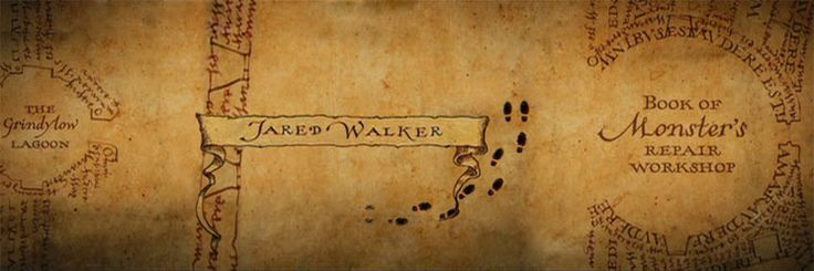 Marauders Map Themed Footprints And Name Label
