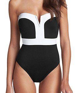 Maillot de Bain Femme 1 Pièce Monokini Amincissant - Grande Taille ...
