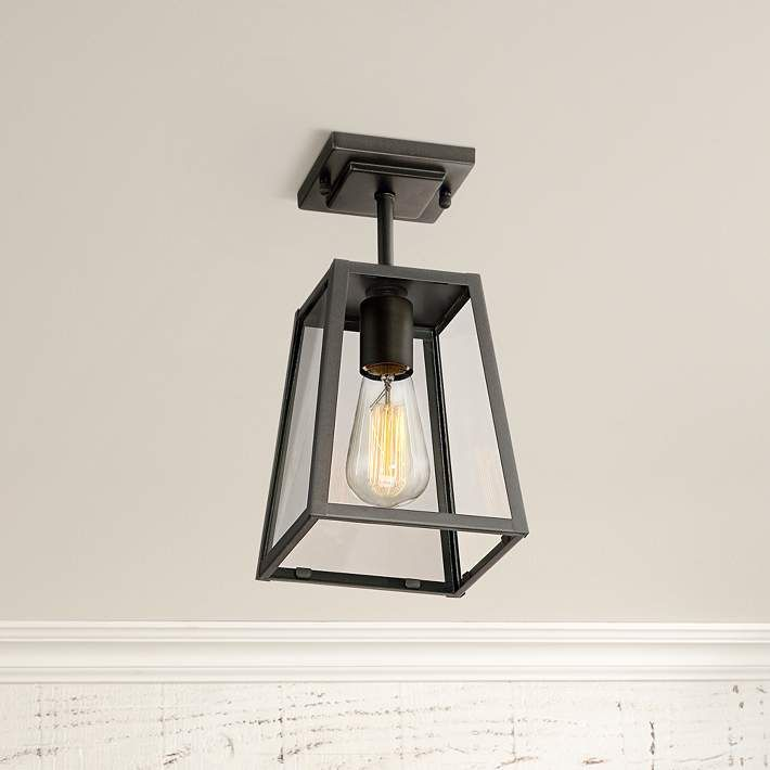 "Arrington 6"" Wide Mystic Black Outdoor Ceiling Light - #1N481 