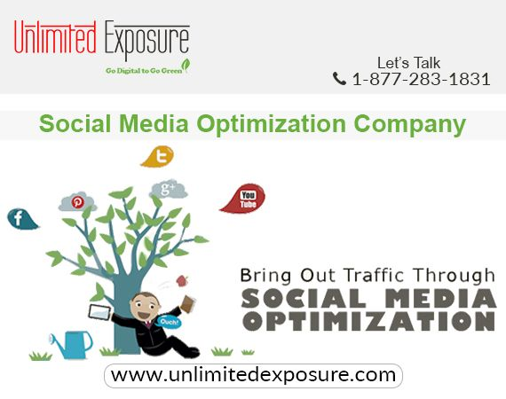 Unlimited Exposure, the most experienced SMO Company in Toronto and GTA offers customized SMO services to improve the presence on social networking platforms. The leading Social Media Company, with existence since 1997, has expertise in customizing the SMO Services for particular objectives; so, you pay only for the effective SMO activities.