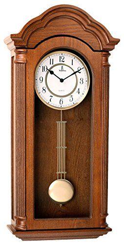 Verona Clocks Best Pendulum Wall Clock Silent Decorative Wood Clock Swinging Pendulum Batte In 2020 Pendulum Wall Clock Pendulum Clock Wood Clocks