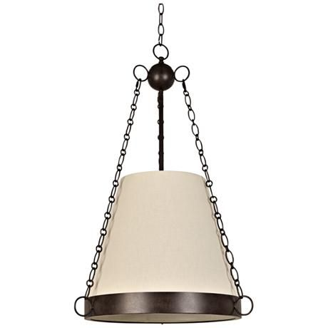 "Crystorama Ellis 20"" Wide Charcoal Bronze Pendant Light"