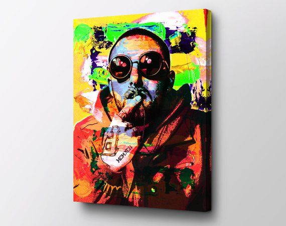 Mac Miller Pop Icon Wall Art By Epik Ready To Hang Canvas Pop Culture Canvas Art Canvas Art Art Pop Art