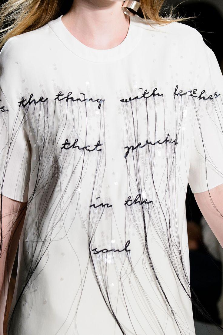 Prabal Gurung Spring 2017 words melting string glitter confetti t-shirt slogan minimalistic chic