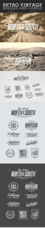 Ретро Логотипы - Retro Vintage Badges and Labels 10202867