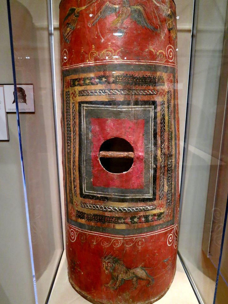 Roman scutum. This is the only known surviving example of this kind of shields. (Yale University). Dura-Europos, 3rd century AD