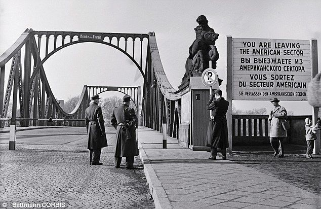 The bridge between East Germany and West Berlin pictured in the early 1960s. Recently opened files show how Stasi officials secretly sold citizens to western pharmaceutical companies to use as human guinea pigs