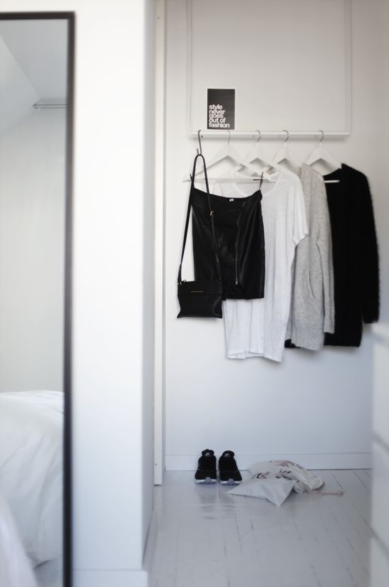 I love the idea of having a designated section outside or inside my closet for what I will be wearing the next day!