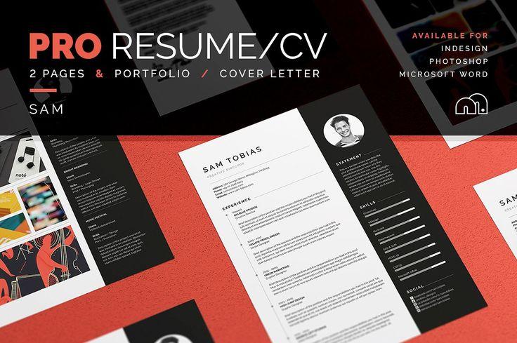 Pro Resume/CV - Sam - Resumes - Cover letter - Portfolio - Curriculum Vitae - Template