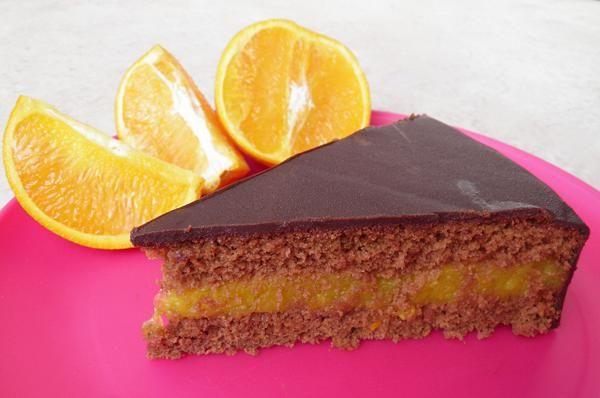 Τούρτα σοκολάτα πορτοκάλι