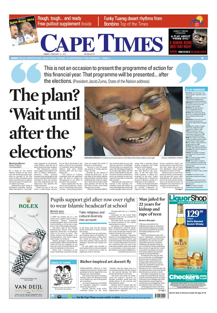 News making headlines: Zuma's State Of The Nation Address