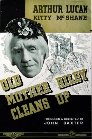 OLD MOTHER RILEY CLEANS UP 1941 Arthur Lucan TRADE ADVERT...