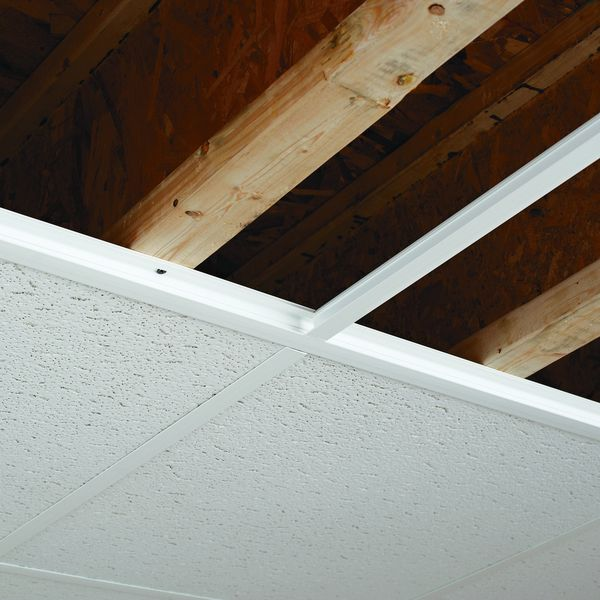 Ceilingmax 100 Sq Ft White Surface Mount Ceiling Grid
