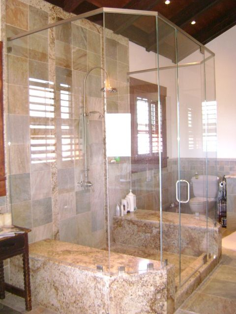 Custom Complete Shower System With Brushed Nickel Header. We Stock An  Extensive Line Of Frameless Shower Door Units, Door Hardware And Components  With A ...