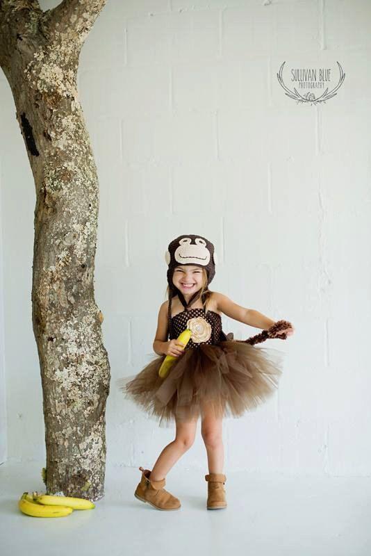 Vestido mono traje Tutu y hecho a mano sombrero del ganchillo