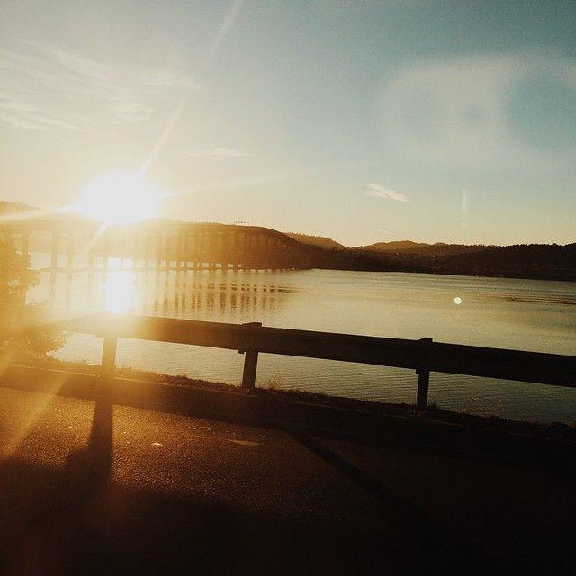 Sun rising over the Tasman Bridge in #Hobart via http://buff.ly/1B8LlTA?utm_content=bufferce603&utm_medium=social&utm_source=pinterest.com&utm_campaign=buffer #Tasmania
